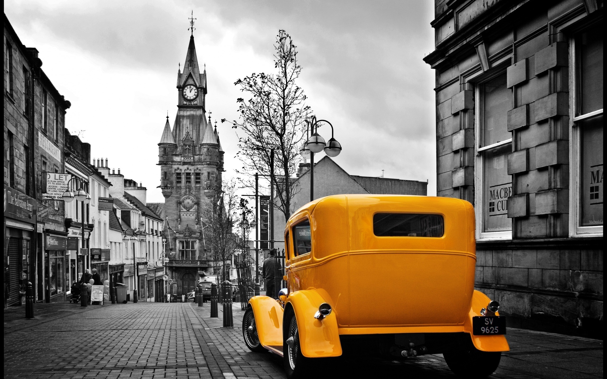 car-vintage-retro-city-wallpaper